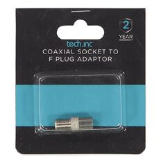 Tech.Inc Coaxial Socket to F Plug Adapter