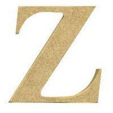 Sullivans Mdf Board Alphabet Letter 6cm Z Brown