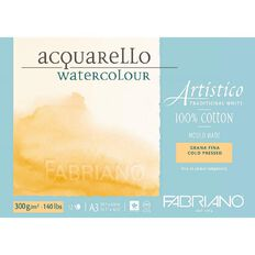 Fabriano Artistico Watercolour Pad Cold Pressed 300GSM 12 Sheets A3