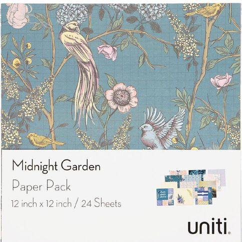Uniti Midnight Garden Paper Pad 12in x 12in