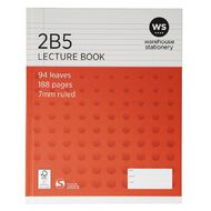 Impact Lecture Book 2B5 7mm Ruled Hardcover 94 Leaf Red