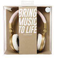 Headphones Pastel Geo Stripe Pink