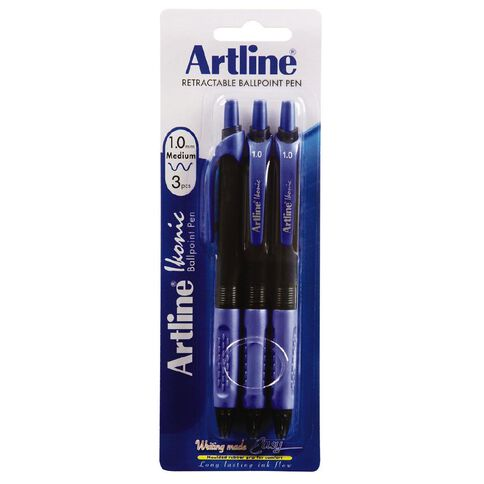Artline Ikonic 1.0mm Med Blue 3 Pack