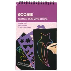 Kookie Scratch Book Blue