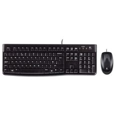 Logitech MK120 Wired Desktop Combo Black