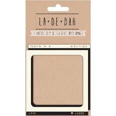 La De Dah Vintage Film Frames 4 Pack Brown
