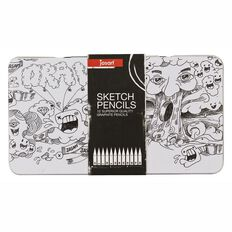 Jasart Sketching Pencils in Tin 12 Pack