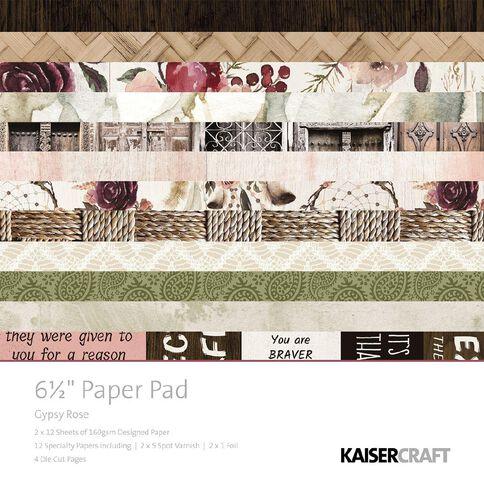 Kaisercraft Gypsy Rose 6.5 inch Paper Pad