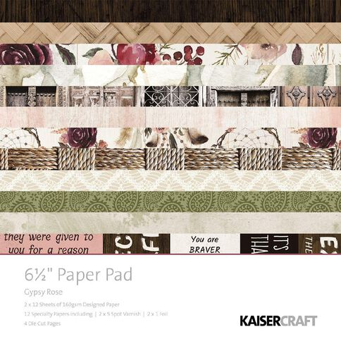 Kaisercraft Gypsy Rose 6.5 inch Paper Pad