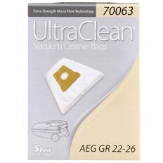 Ultra Clean Vacuum Bags For AEG Grobe 5 Pack
