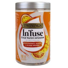 Twinings Infuse Cold Water Infusn Passnfruit Mango & Blood Org 12 Pack