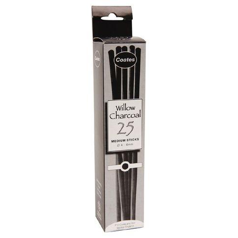 Coates Charcoal Willow Medium 25 Pack