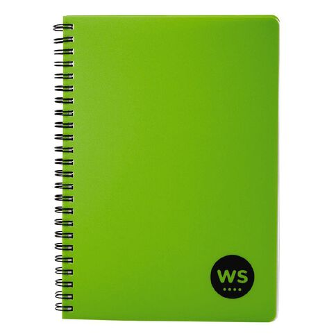 WS Notebook PP Wiro 200 Pages Soft Cover Green A5