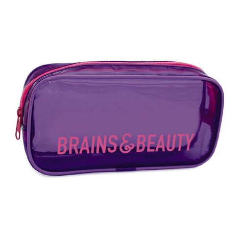 Pencil Case Brains & Beauty Tinted Purple