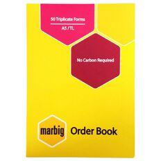 Marbig Order Book Triplicate 50 Leaf Yellow A5