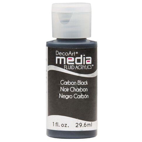 DecoArt Fluid Acrylic 30ml Black