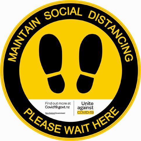 WS COVID Floor Decal MAINTAIN YOUR DISTANCE
