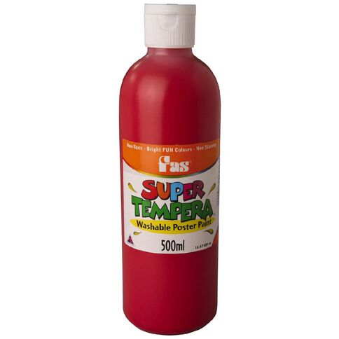 FAS Paint Super Tempera 500ml Crimson Red 500ml