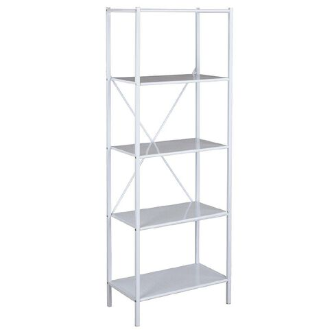 Workspace Metal Bookcase White
