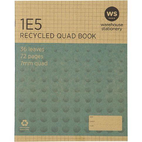 WS Recycle 1E5 Exercise Book