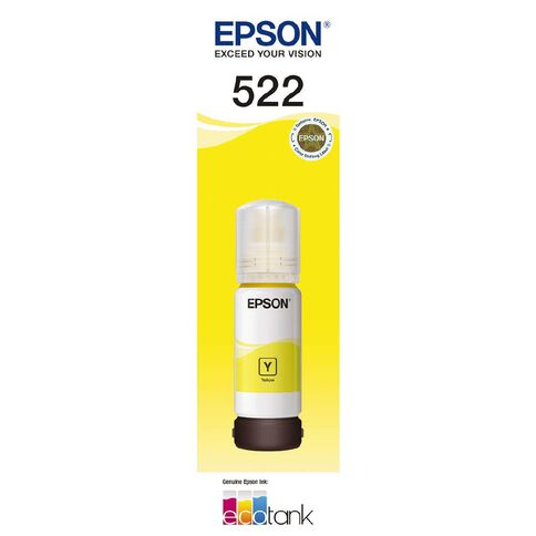 Epson Ink T522 Yellow 65ml (7500 Pages)