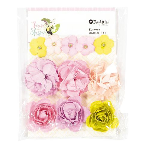 Rosie's Studio Thrive and Shine Paper Flowers 16 Piece