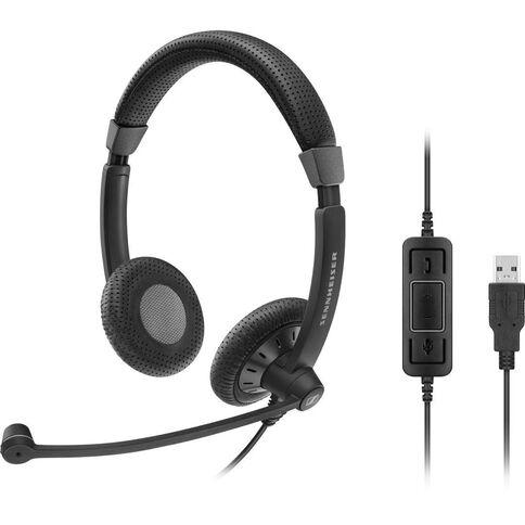 Sennheiser Sc 70 USB Binaural Uc Headset Black