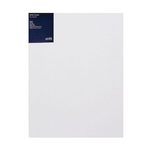 Uniti Blank Canvas 12x16 Inches 1 Piece 280GSM White