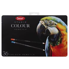 Jasart Coloured Pencils in Tin 36 Pack
