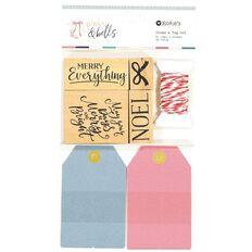Rosie's Studio Bows & Bells Stamp & Tag Set