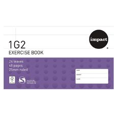 Impact Exercise Book 1G2 25mm 24 Leaf Purple