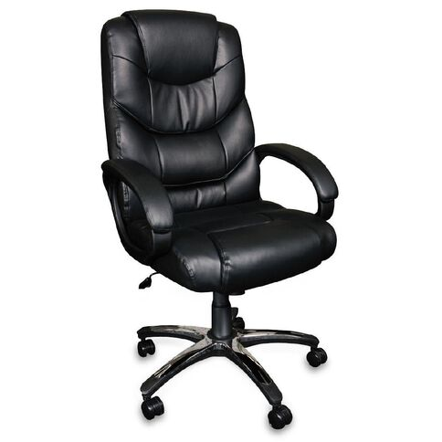 Workspace Magnum Bonded Leather Executive Chair Black