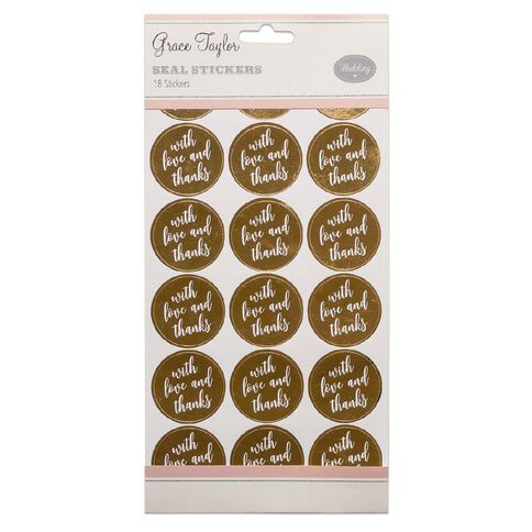 Grace Taylor Wedding Seals 18 Pack Gold