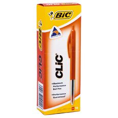 Bic Clic Pens 2000 Red 10 Pack Red