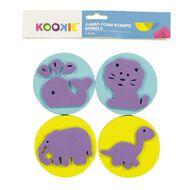 Kookie Jumbo Foam Stamps 4pk Animals