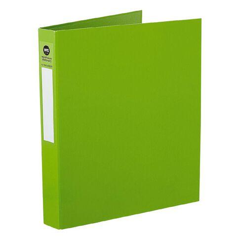 WS Ringbinder 2D 25mm Green A4