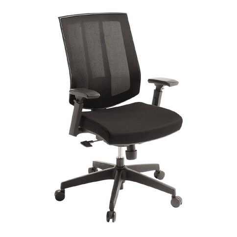 Eden Rally Synchro Highback Mesh Chair with Arms Black