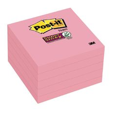Post-It Super Sticky Notes 5 Pack Neon Pink