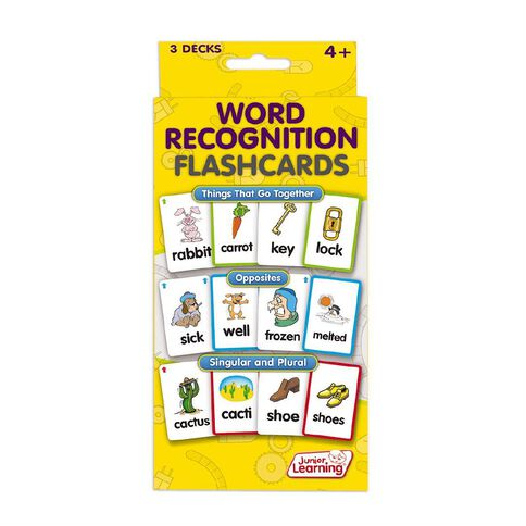 Junior Learning Junior Learning Word Recognition Flashcards