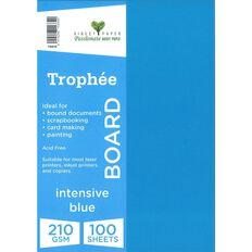Trophee Board 210gsm 100 Pack Intensive Blue A4