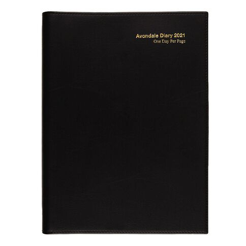 Dats Diary 2021 Day To Page Avondale World Maps Black A4