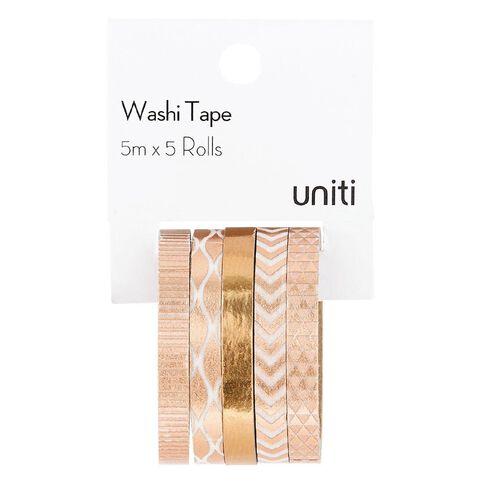 Uniti Washi Tape Rose Gold 5 Pack