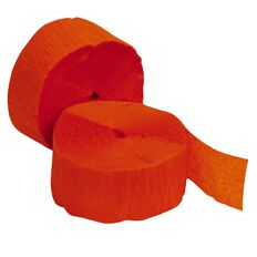 Meteor Streamers 24.6m x 4.45cm 2 Rolls Orange