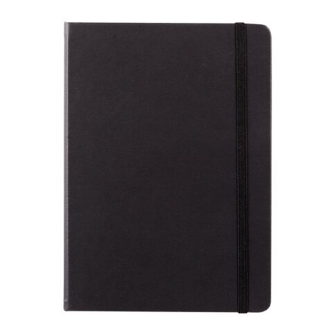 Impact Hardcover PU Notebook with Elastic Black A5