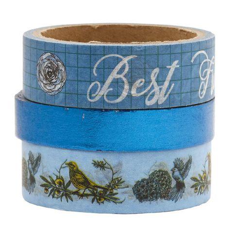 Uniti Midnight Garden Washi Tape Blue 2 Pack