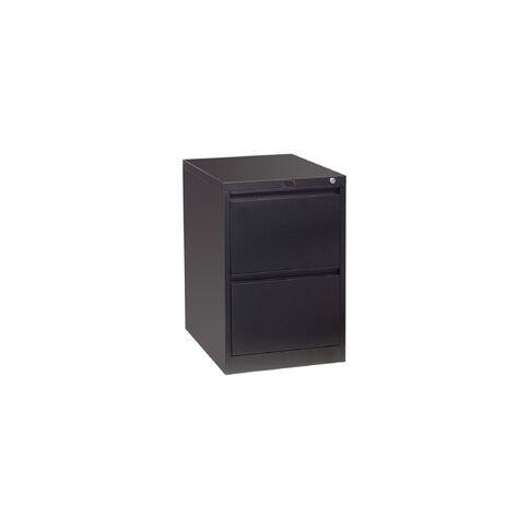 Workspace Filing Cabinet 2 Drawer Black