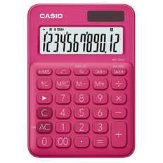 Casio MS20UCRD Desktop 12 Digit Calculator Red