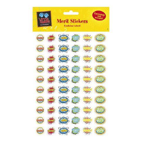Little Hands Learning Merit Stickers Speech Bubbles