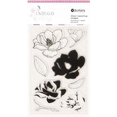 Rosie's Studio Indigo Mist Clear Stamps