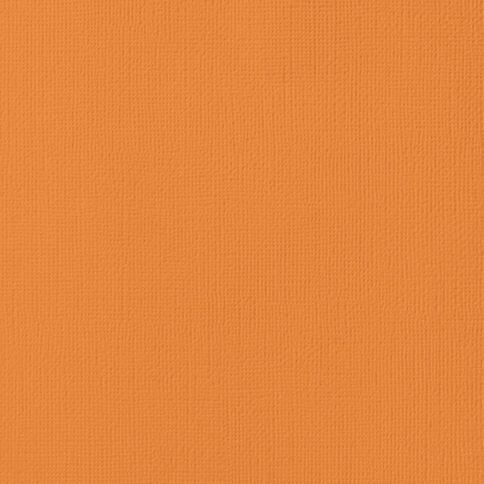 American Crafts Cardstock Textured Carrot Orange 12in x 12in